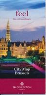 Belgien Brüssel City Map Stadtplan - Reiseprospekte