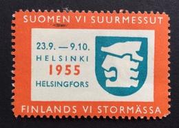 HELSINKI  1955  FINLANDS VI STORMASSA  ETICHETTA PUBBLICITARIA  ERINNOFILO - Erinnofilia
