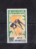 Centrafrique. Poste Aérienne. Jeux Sportifs. Saut à La Perche - Centrafricaine (République)