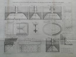 ANNALES DES PONTS Et CHAUSSEES (Dep 13)  - Viaduc Rive Gauche Sur Rouet - 1883 - E.Pérot (CLE04) - Travaux Publics
