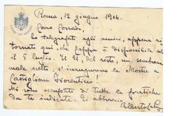 ALBERTO LA PEGNA ( NAPOLI ) MINISTRO PER LE TERRE LIBERATE AL NEMICO - CARTOLINA AUTOGRAFA / AUTOGRAPH - 1914 - Autographes