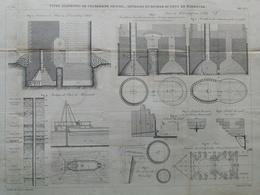 ANNALES DES PONTS Et CHAUSSEES (Dep 31)  - Sondages En Rivière Du Pont De Marmandes - 1883 - E.Pérot (CLE05) - Public Works