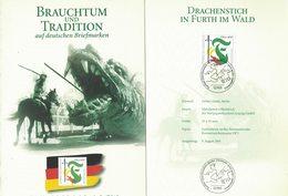 E81   Germany 2001 Folder  Dragon, Mythologie, Mythology, Saint-georges, St. George - Mitologia