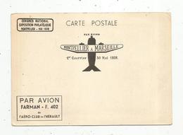 Cp, Par Avion FAIRMAN - F. 402, De L'aéro Club De L'Hérault , MONTPELLIER à PARIS ,1 Er Courrier ,30 Mai 1939 - 1939-1945: 2ème Guerre