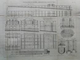 ANNALES DES PONTS Et CHAUSSEES  - Installation Et Réparation La Pile 1 Du Viaduc - 1883 - E.Pérot (CLE06) - Travaux Publics