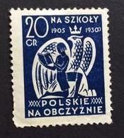 NA SZKOLY  1905 1930 POLSKIE NA OBCZYZNIE   20 Gr  POSTER STAMP  ETICHETTA PUBBLICITARIA  ERINNOFILO - Erinnofilia