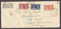 NEW ZEALAND. 1937 (8 July). Dunedin - Macau, China (18 July). Reg Multifkd Env. Arrival Cds. Scarce Dest. - Nouvelle-Zélande