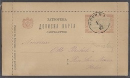 MONTENEGRO. 1897 (10 Feb). Cettigne - Italy. 10n Stat Lettersheet. Monastery Issue. Philatelic Usage. - Montenegro