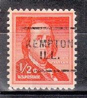 USA Precancel Vorausentwertung Preo, Locals Illinois, Kempton 703 - Vereinigte Staaten