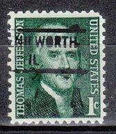 USA Precancel Vorausentwertung Preo, Locals Illinois, Kenil Worth 841 - Vereinigte Staaten