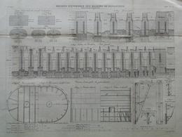 ANNALES DES PONTS Et CHAUSSEES  - Bassin D'ensemble Des Massifs De Fondations - 1883 - E.Pérot (CLE07) - Travaux Publics