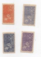 Erinnophilie Vignette Exposition Horticole St Maur Des Fossés Novembre 1913 (4 Vignettes) - Erinofilia
