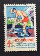DIFESA TUBERCOLOSI  ET PROPRE 1938   ETICHETTA  PUBBLICITARIA  ERINNOFILO - Erinnofilia