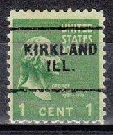 USA Precancel Vorausentwertung Preo, Locals Illinois, Kirkland 703 - Vereinigte Staaten