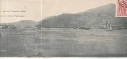 11-9----grece-argostoli-carte Double-panorama D Argostoli Une Vue Sur La Ville Avec Son Port Et La Flotte Francaise - Grèce