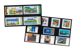 Lindner HA571000 Hawid Stock Cards With 5 Strips, 210 X 148 Mm, Black - Pack Of 100 - Stamps