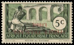 """AFRIQUE EQUATORIALE Poste (*) - 95a, Surcharge Renversée: 5c. """"Afrique Française Libre"""" - Cote: 300 - Ohne Zuordnung"""
