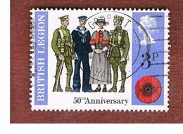 GRAN BRETAGNA (UNITED KINGDOM) -  SG 887 -  1971 BRITISH  LEGION   - USED° - Usati
