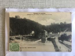LANDELIES 1910  SOUVENIR DE LANDELIES   L' ECLUSE , VUE PRISE DU PONT DU CHEMIN DE FER DU NORD - Montigny-le-Tilleul