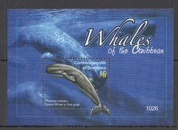 O769 2010 DOMINICA FAUNA FISH & MARINE LIFE WHALES OF THE CARIBBEAN BL MNH - Baleines