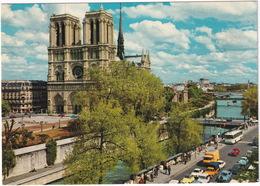 Paris: CITROËN 2CV, RENAULT 4, SIMCA 1000 COUPÉ, PEUGEOT 404 PICKUP, 504, VW 1200 - La Seine Et Notre-Dame - Toerisme