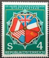 1980 AUSTRIA MNH 25th Anniversary Of State Treaty - 1945-.... 2ème République