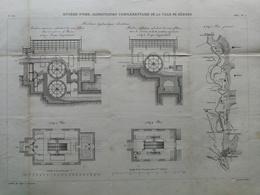 ANNALES DES PONTS Et CHAUSSEES (dep 34) - Rivière D'orb. Alimentation De Béziers- 1883 - E.Pérot (CLE09) - Travaux Publics