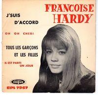 Disque De Françoise Hardy - Oh Oh Chéri - Vogue EPL. 7967 - 1962 - - Vinyles