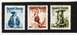 LKA585 ÖSTERREICH 1952 Michl 978/80 VOLKSTRACHTEN WEISSER GUMMI 3 WERTE ** Postfrisch SIEHE ABBILDUNG - 1945-60 Ungebraucht