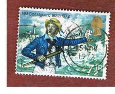GRAN BRETAGNA (UNITED KINGDOM) -  SG 902 -  1972 COASTGUARD ANNIVERSARY  - USED° - Usati