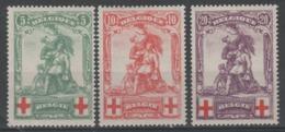 BELGIQUE - 1914 - * - COB 126/128 - Croix Rouge - FAUX  - - 1914-1915 Cruz Roja