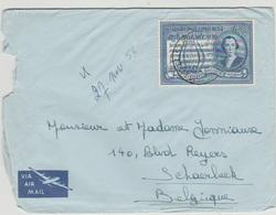 CONGO BELGE - Courrier  -1956 - COB 340 - Cachet ElisabethVille . - 1947-60: Brieven
