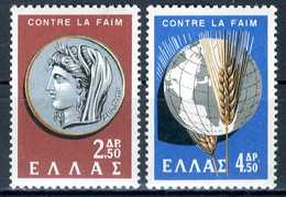 GRECIA 1963** - Campagna Mondiale Contro La Fame - 2 Val. MNH, Come Da Scansione. - Nuovi