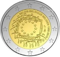 Belgie 2015  2 Euro Comm     30 Jaar Europese Vlag  !!! UNC Uit De Rol - UNC Du Rouleaux - Belgique