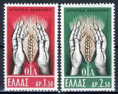 GRECIA 1962** - Sicurezza Sociale In Agricoltura - 2 Val. MNH, Come Da Scansione. - Agricoltura