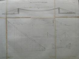 ANNALES DES PONTS Et CHAUSSEES (dep 17) - Pont Suspendu De St-Christophe - Dulos (CLE11) - Travaux Publics