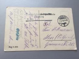 Feldpost 1.WK 1916 BAHNHOFSKOMMANDANTUR DUISBURG B. Nr. - Deutschland