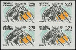 ANDORRE Non Dentelés ** - 368, Bloc De 4 Non Dentelé: 2.20 Rugby - Cote: 110 - Postzegels