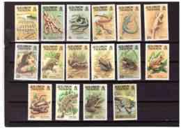 K94   -  SOLOMON ISLANDS  -  SERIE COMPLETA NUOVA** - CAT. Y&T. Nr. 378/393 - Reptiles & Batraciens