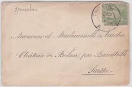 LSC - JERUSALEM POUR BONNETABLE (72) /  31 DEC. 1900 - (env. Carte De Visite) - France (former Colonies & Protectorates)
