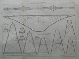 ANNALES DES PONTS Et CHAUSSEES (Dep 82) Plan De Construction Du Viaduc De Viaur Imp L.Courtier 1899 (CLE13) - Travaux Publics