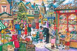 №155.11 Postcard Modern New Rare Christmas Fair Gift Buying - Natale