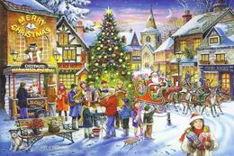 №155.3 Postcard Modern New Christmas Festivities Around The Christmas Tree - Natale