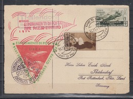 "Italien/Triest Karte MiF 494,495 Mit Raketenpost "" Ottobre Esperimenti Di Posta Per Razzo Espresso Trieste 1934 "" - Poste Aérienne"