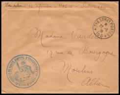 53081 Secteur 150 Hopital D'evacuation 15 15éme Corps 1916 HOE Sante Guerre 1914/1918 War Lettre Cover - Guerre De 1914-18