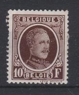 Belgique - 1922 - * - COB 210 - 10 F - HOUYOUX - Valeur 87€ - 1922-1927 Houyoux