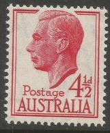 Australia. 1951-52 KGVI. 4½d MNH. SG 248 - Mint Stamps