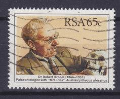 South Africa 1991 Mi. 827   65c. Dr. Robert Broom Paleontologist 'Mrs Ples' Australopithecus Africanus - Afrique Du Sud (1961-...)