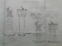 ANNALES PONTS Et CHAUSSEES (Dep 94) - Viaduc Du Val Saint-Léger - Graveur E.Pérot - 1882 - (CLE14) - Travaux Publics