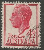 Australia. 1951-52 KGVI. 4½d Used. SG 248 - Used Stamps